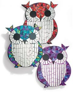 Mirror~ Assorted Colours Hippy Bohemian Decorative Mosaic Owl Mirror~ By Folio Gothic Hippy MC35